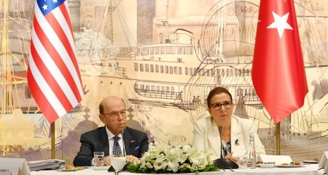 وزيرة التجارة التركية تبحث مع نظيرها الأمريكي رفع حجم التجارة بين البلدين إلى 100 مليار دولار