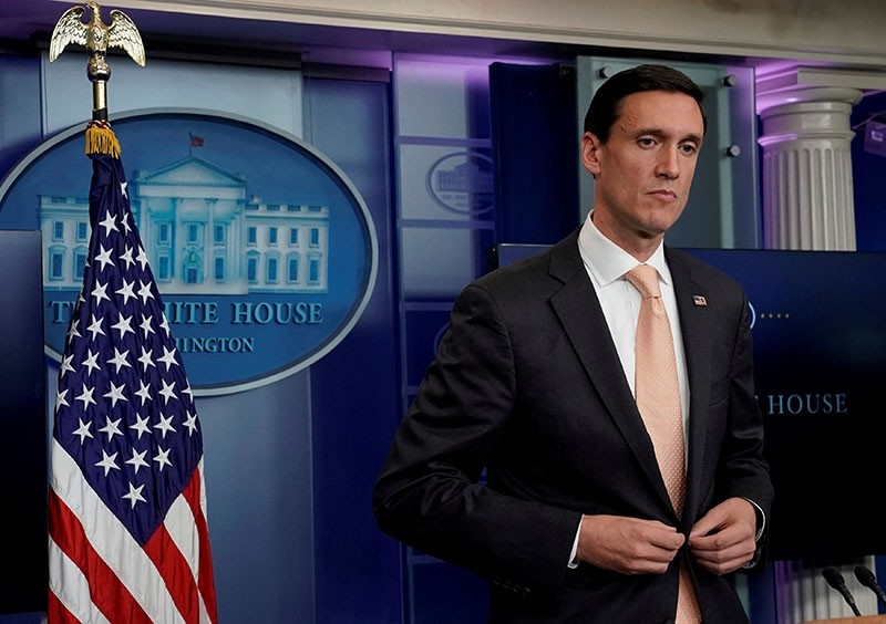 White House Homeland Security Advisor Tom Bossert speaks about the situation in Texas, after Hurricane Harvey, during a news briefing at the White House in Washington, U.S., Aug. 31, 2017. (Reuters Photo)
