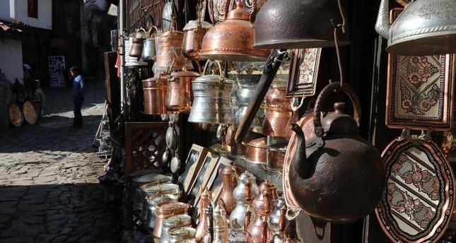 منتجات سوق النحاسين في صفران بولو في ولاية قره بوك IHA