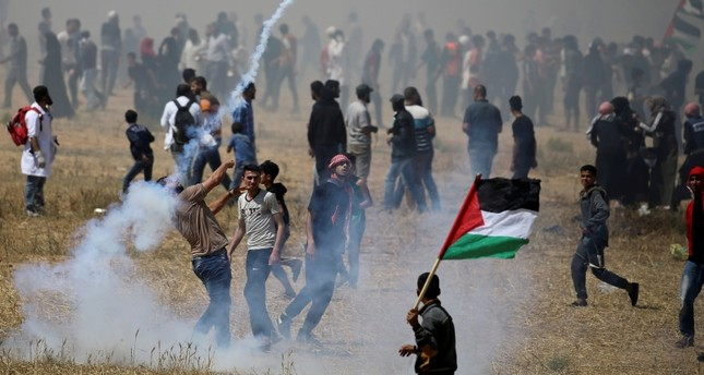 إصابة 47 متظاهرا فلسطينيا خلال مشاركتهم في مسيرات شرقي قطاع غزة