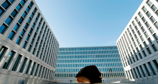 A picture taken on February 8, 2019 in Berlin shows a view of the Federal Intelligence Service (BND) building with in the courtyard (AFP Photo)