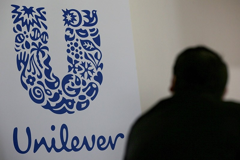 The logo of the Unilever group is seen at the Miko factory in Saint-Dizier, France, May 4, 2016. (Reuters Photo)