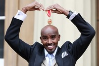 British running legend Mo Farah receives knighthood from Queen