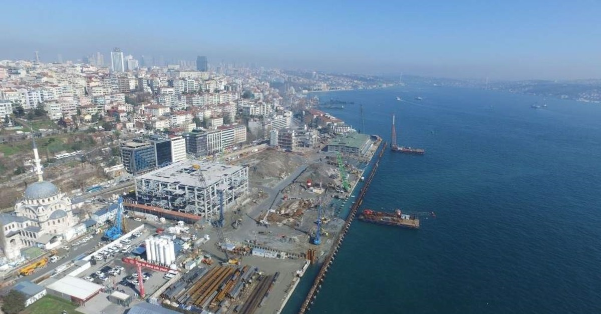 Istanbul's latest tourism investment Galataport is scheduled to open in March 2020 and will be fully operational in 2021. (DHA Photo)