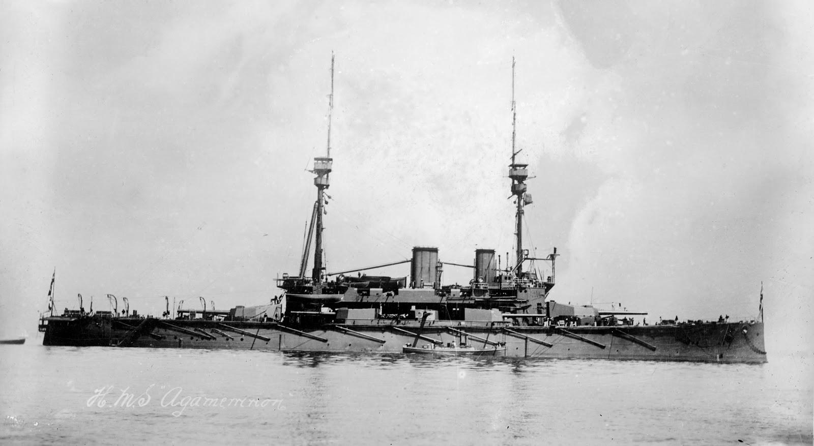 British battleship Agamemnon.