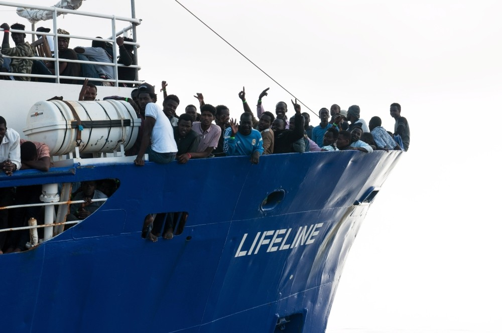 Malta and Italy have both refused to take in the Dutch-flagged vessel Lifeline which rescued over 230 migrants at sea, June 21.