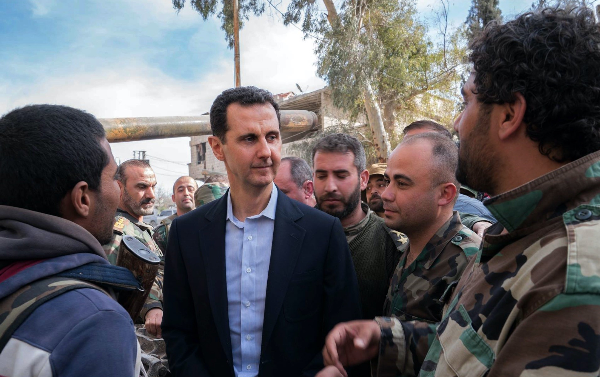 Syrian President Bashar Assad takes a u2018victoryu2019 lap in the former rebel enclave Eastern Ghouta on March 18, 2018.