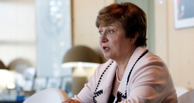 Kristalina Georgieva, World Bank CEO and European candidate to become the new head of the IMF, attend a meeting with French Finance Minister Bruno Le Maire not seen at the Bercy Finance Ministry in Paris, France, Aug. 23, 2019. Reuters Photo