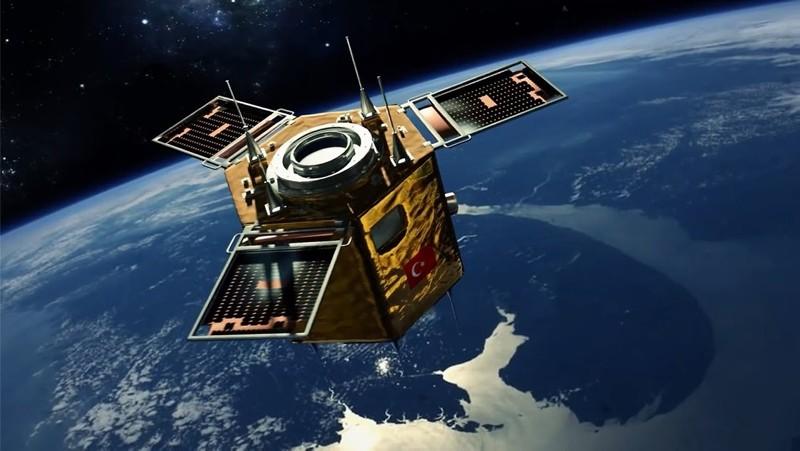 Turkey's high-resolution national discovery satellite Gu00f6ktu00fcrk-2. (FILE Photo)
