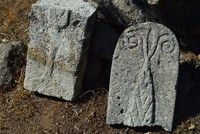 Ancient ram-headed tombstone discovered in northwestern Turkey