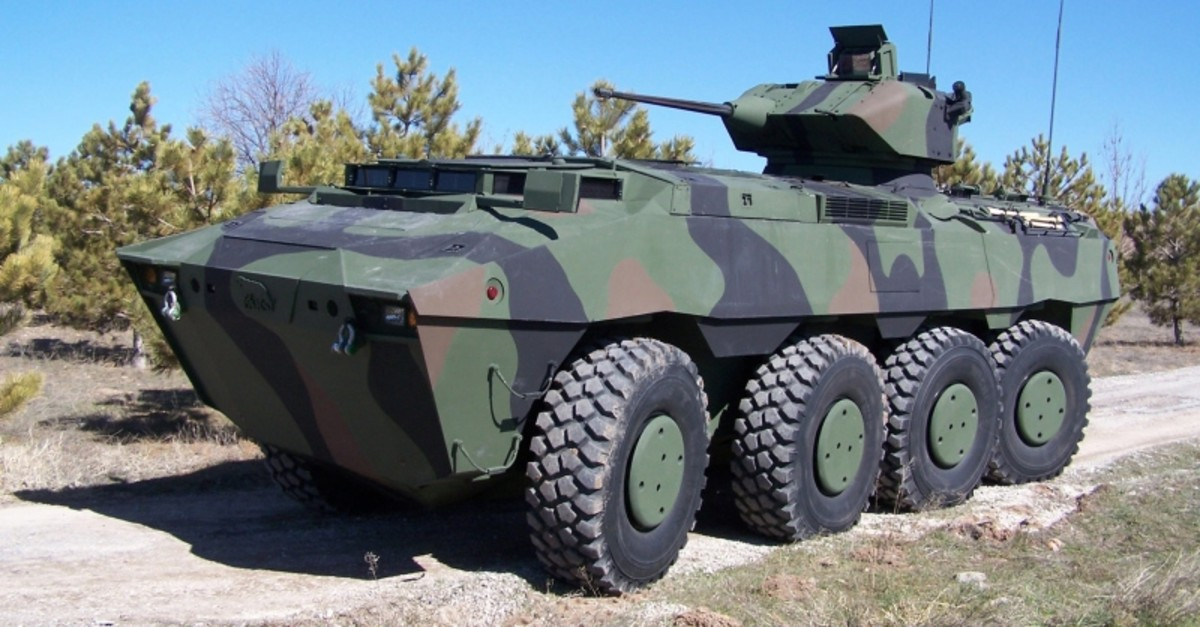 Armed personnel carrier Pars developed by Turkish defense contractor FNSS. (AA File Photo)