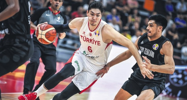 Cedi Osman L broke his international career-high record with 32 points in the World Cup game against New Zealand, Sept. 9, 2019.