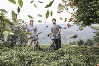 Turkish, Spanish BMX cyclists take their show to tea fields of Rize