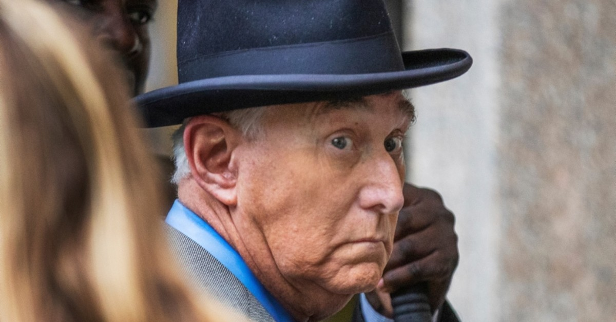 In this Nov. 12, 2019 file photo, Roger Stone, a longtime Republican provocateur and former confidant of President Donald Trump, waits in line at the federal court in Washington (AP Photo)