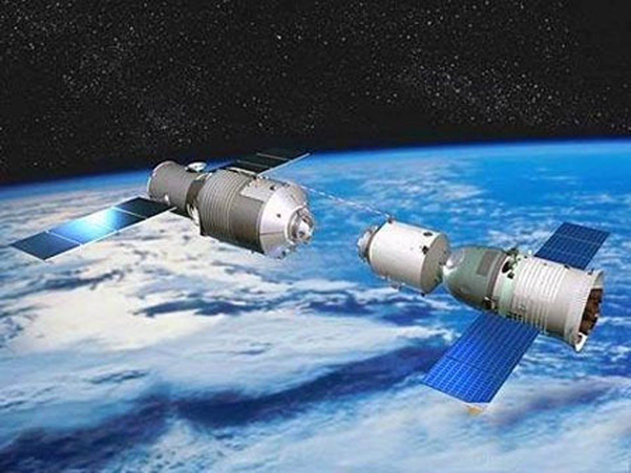 The module (artist's depiction) consists of three sections: the aft service module, a transition section and the habitable orbital module. (REUTERS Photo)