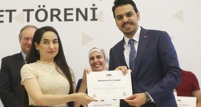 Syrian university students mark graduation away from home