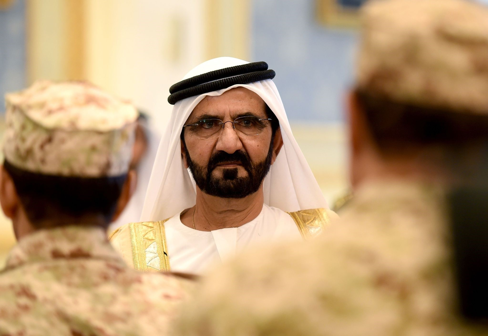 Sheikh Mohammed Bin Rashid Al Maktoum, Vice President and Prime Minister of the United Arab Emirates and ruler of Dubai.