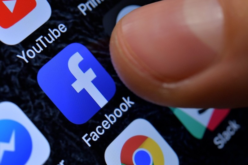 A close-up image showing the Facebook app on an iPhone in Kaarst, Germany, Nov. 8, 2017. (EPA Photo)