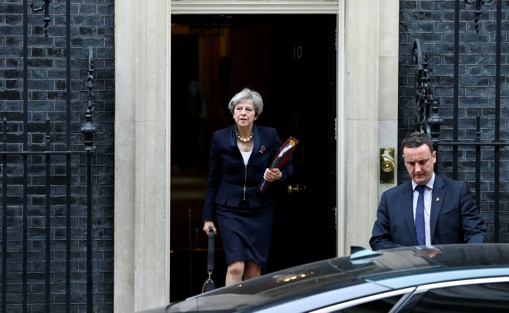 Britain's Prime Minister Theresa May leaves her official residence at 10 Downing Street, London, Nov. 1.