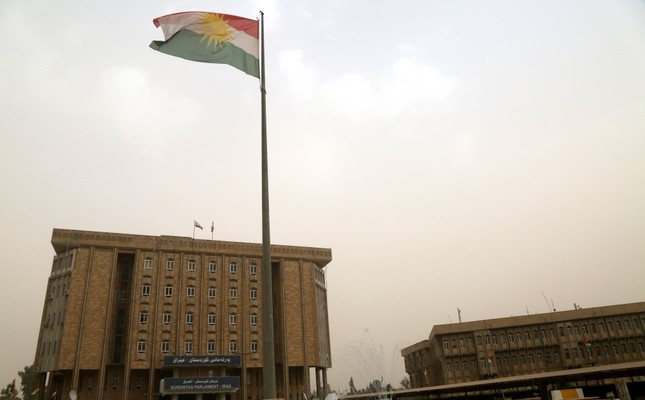 A general view of KRG parliament building during session, Irbil, Oct. 29.