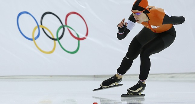 Netherlands' Irene Wust competes to win gold at the 2014 Sochi Winter Olympics. (AFP Photo)