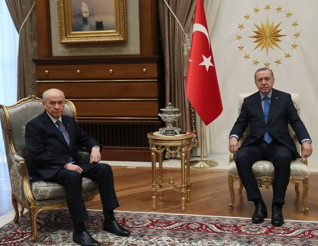 President Recep Tayyip Erdoğan met with Nationalist Movement Party (MHP) Chairman Devlet Bahçeli in Ankara, yesterday.