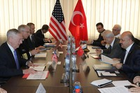 The U.S. Secretary of Defense James Mattis told his Turkish counterpart Fikri Işık in a meeting in Brussels on Wednesday that their support for and cooperation with the PKK's Syrian affiliate the...