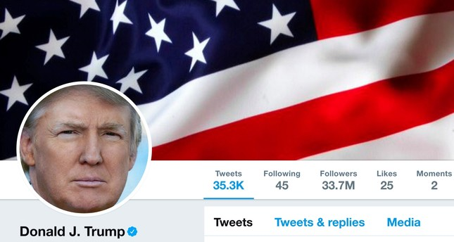 The masthead of U.S. President Donald Trump's @realDonaldTrump Twitter account is seen on July 11, 2017. (Handout via REUTERS)