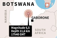 Magnitude 6.5 earthquake strikes Botswana, tremor felt from South Africa and Mozambique