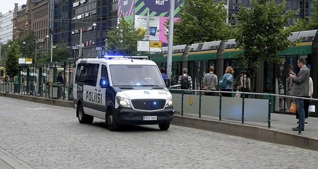 Finnish police patrol the streets, after stabbings in Turku, in Central Helsinki, Finland August 18, 2017. (Linda Manner via Reuters)