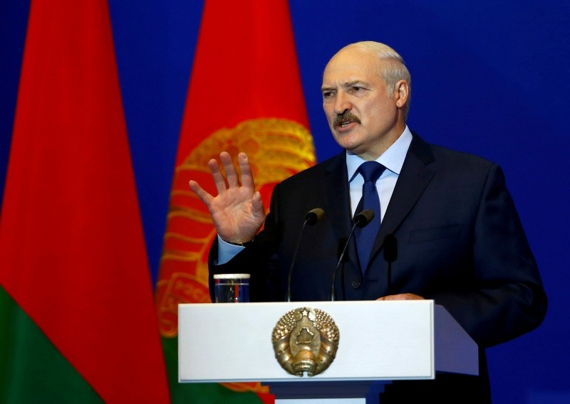Belarussian President Alexander Lukashenko delivers a speech during the Minsk Dialogue Forum ,Eastern Europe: In Search of Security for All, in Minsk, Belarus May 24, 2018. (Reuters Photo)