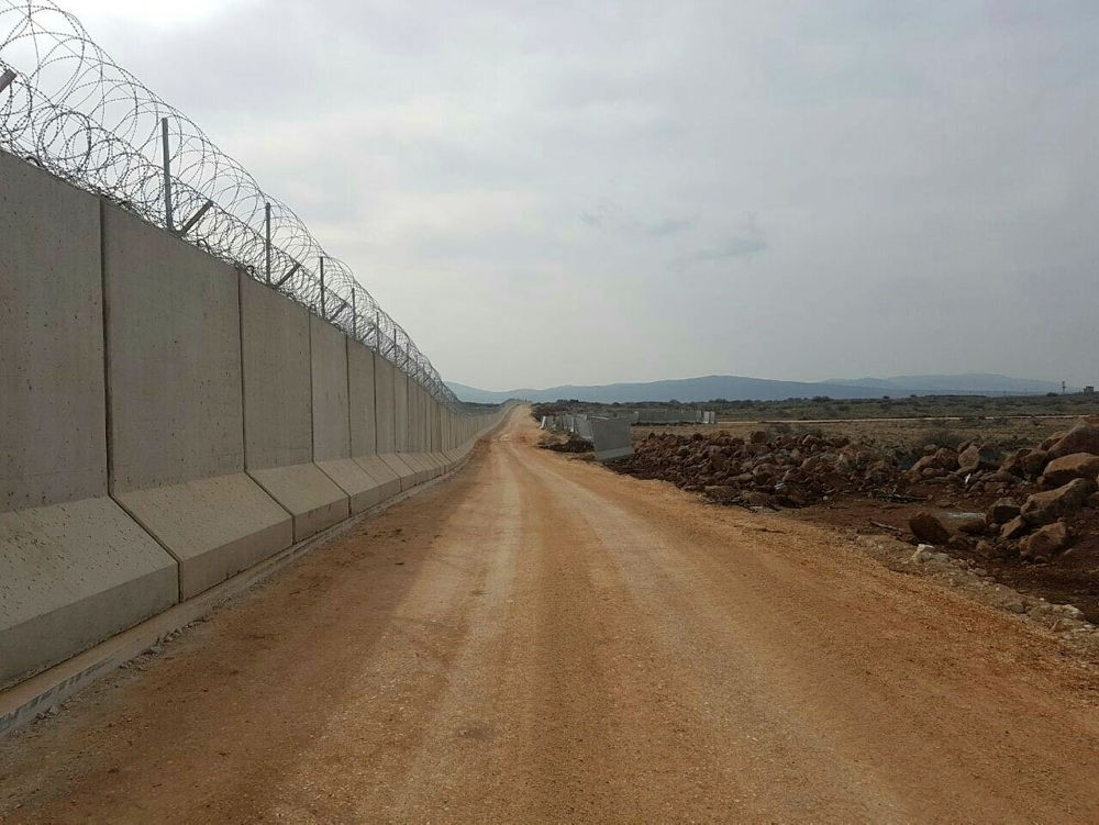 The 330 kilometers (205 miles)-long of security wall along the Turkish border with Iraq and Syria.