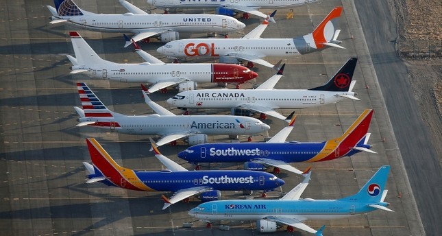 An aerial photo shows Boeing 737 MAX aircraft at Boeing facilities at the Grant County International Airport in Moses Lake, Washington, Sept. 16, 2019. Reuters Photo