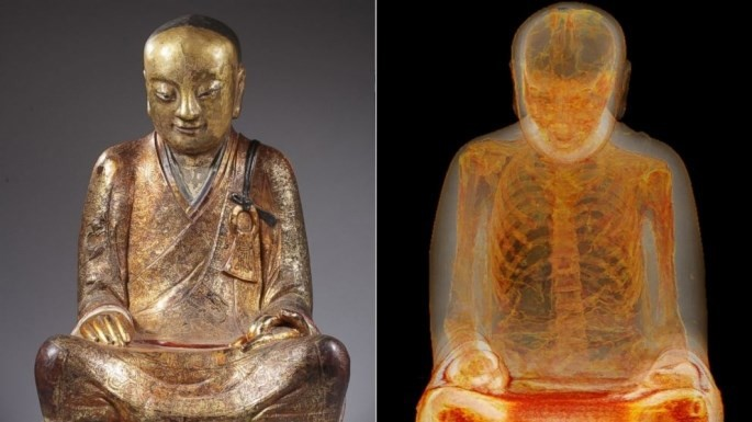 The human-sized sitting Buddha statue called the u201cZhanggong Patriarch,u201d disappeared from a temple in Yangchun in late 1995 after being worshipped for centuries.