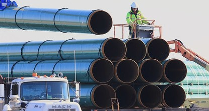 pA federal judge on Monday rejected a request by two American Indian tribes for an emergency order halting construction of the remaining section of the Dakota Access oil pipeline./p