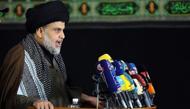 Iraq's powerful Shiite cleric Muqtada al-Sadr addresses the media Dec. 7, 2017. AFP Photo