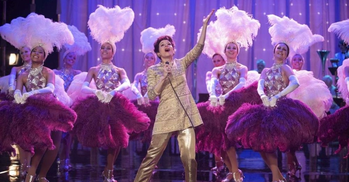 This image released by Roadside Attractions shows Rene?e-Zellweger as Judy Garland in a scene from ,Judy., (AP Photo)