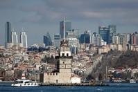 مشهد عام لاسطنبول وحي الأعمال في المدينة رويترز