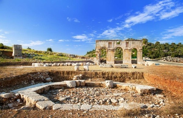 The Patara ancient city is located in the Kaş district of Mediterranean Antalya province.