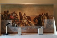 اللوحة قيد الترميم (İHA)