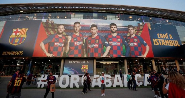 General view outside the Camp Nou stadium of Barcelona, Oct. 2, 2019. Reuters Photo