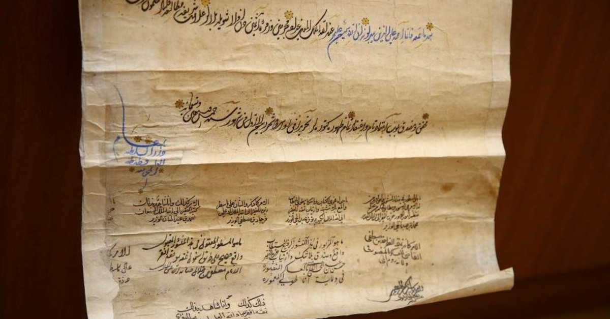 A title-deed dating back to the reign of Ottoman Sultan Suleiman the Magnificent has been discovered within the archives of the Azerbaijan National Academy of Sciences' Institute for Scriptures (AA Photo)
