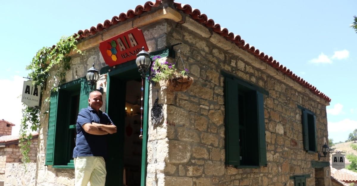 Fevzi Yeniu00e7eri has a small ceramics workhop in u00c7anakkale's Adatepe village.