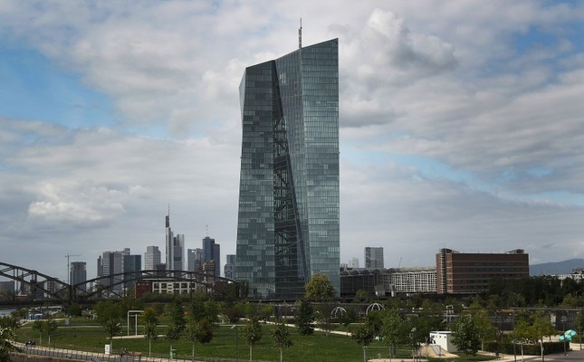 In this file photo taken on September 7, 2017 the European Central Bank (ECB) is seen in Frankfurt am Main, Germany. (AFP Photo)