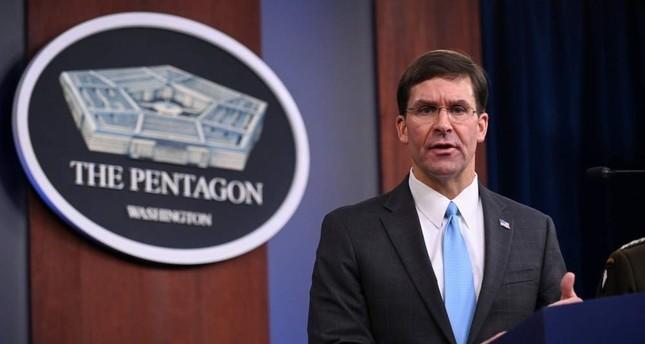 U.S. Defense Secretary Mark Esper addresses reporters during a media briefing at the Pentagon,  Oct. 11, 2019. (REUTERS)