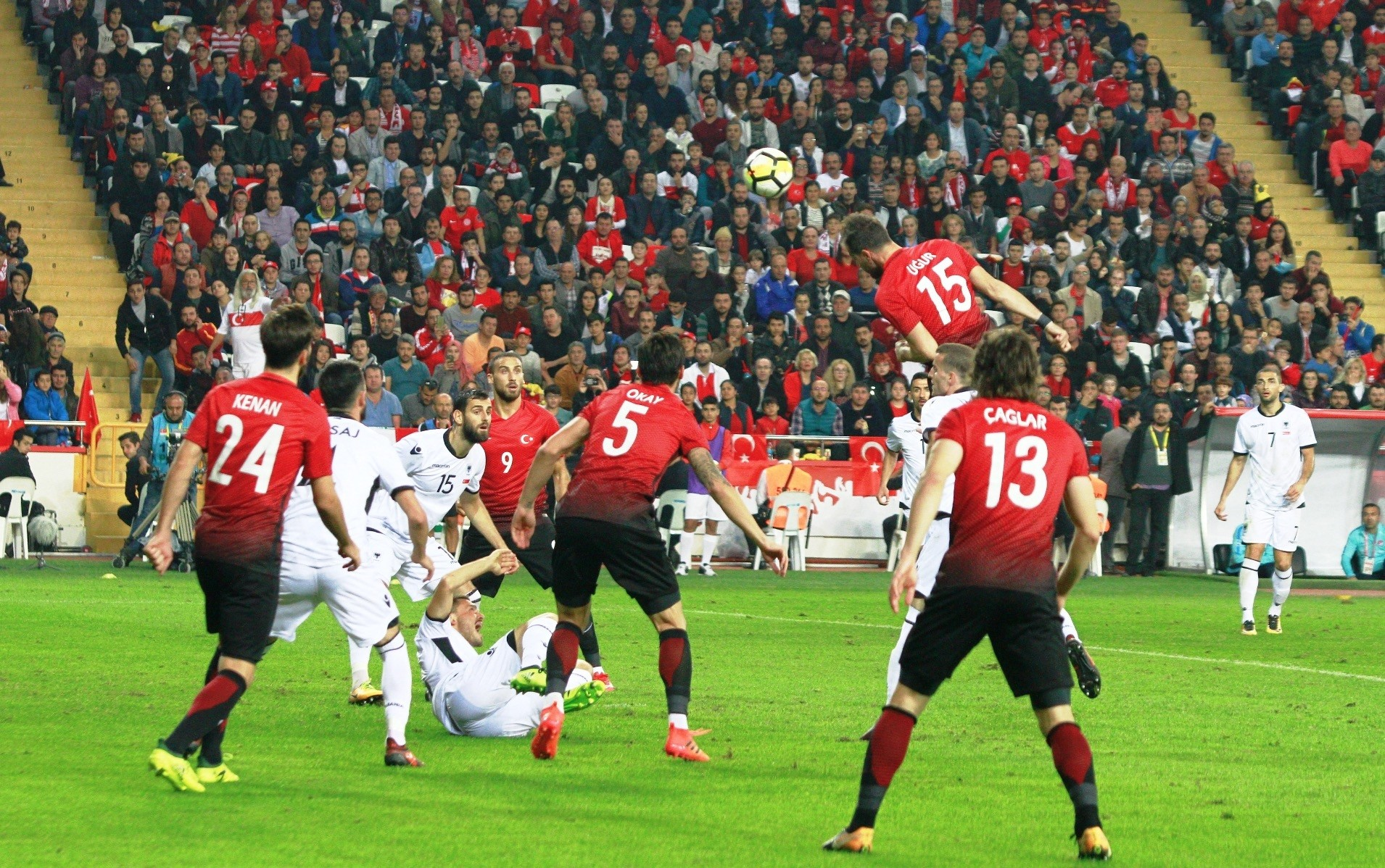 The Turkish national football team played its 555th international tie, and sixth under coach Mircea Lucescu, when it faced Albania in a friendly in Antalya on Monday.