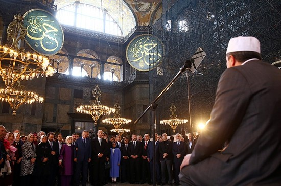 Erdoğan launches first classical Turkish arts biennial in Istanbul's Hagia Sophia