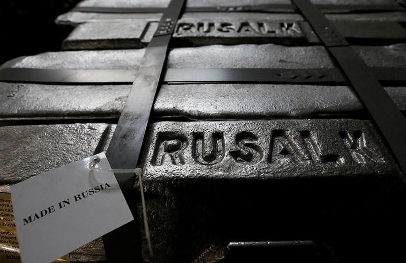 Aluminum ingots are seen stored at the foundry shop of the Rusal Krasnoyarsk aluminium smelter in Krasnoyarsk, Siberia, July 27, 2016. (Reuters Photo)