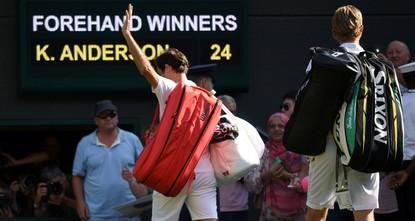 Federer falls to Anderson in five-set shock Wimbledon quarterfinal exit