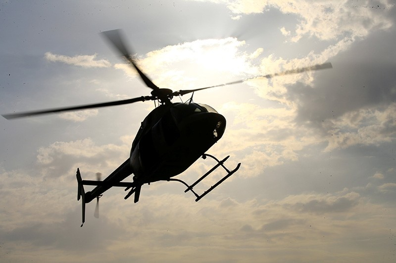 An Iraqi helicopter flies over Kerbala, Iraq, November 7, 2017. Picture taken November 7, 2017 (Reuters Photo)